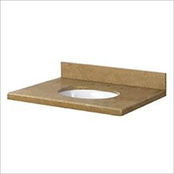 Pedra Travertine Vanity Top with UM Oval Bowl Noche Rustico / Various Sizes / Eased Edge