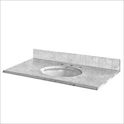 Pedra Marble Vanity Top with UM Oval Bowl