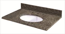 Pedra Granite Vanity Top with UM Oval Bowl