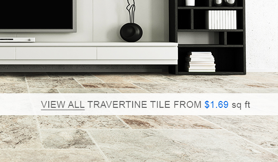 Travertine Tile - Silver Premium