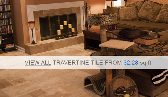 Travertine Tile - Denizli Beige