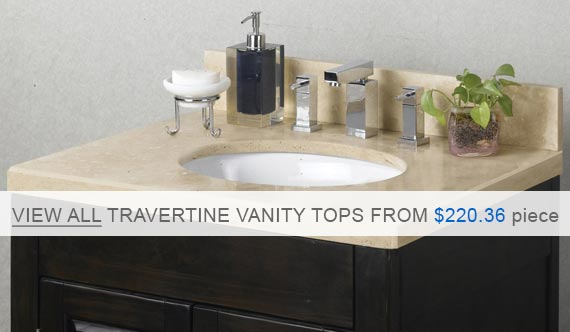 Pedra Travertine Vanity Top - Ivory Select