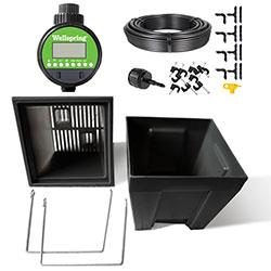 """Wellspring Deck Accessories Drop-In Planters with Kits Black 16"""" Drop-In Deck Planter 2pk with Autowater Kit"""