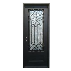 Save Price Grafton Exterior Wrought Iron Glass Doors Fern Collection