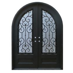 Black Right Hand Inswing 98 X74 Round Top Exterior Doors