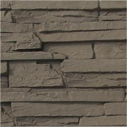 Black Bear Faux Stone Siding - Ledge Stack Collection Gray / Panel 15.284 sq ft
