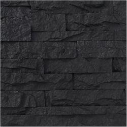 Black Bear Faux Stone Siding - Stacked Stone Collection Charcoal / Panel 15.284 sq ft