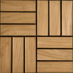 Kontiki Teak Interlocking Wood Deck Tiles