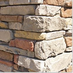 """M Rock Install-With-Screws Manufactured Stone - Column Covers Pleasant Valley / Column Wrap 16""""x16"""""""