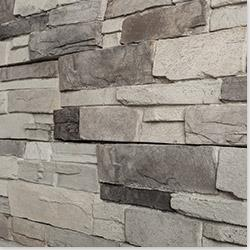 Black Bear Manufactured Stone - Stack-N-Tack  Colorado Gray / Stacked Stone 6 Sq ft Flat
