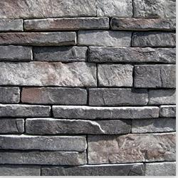 Black Bear Manufactured Stone - Southern Stacked Stone Midnight / Stacked Stone 10 sq ft Flat