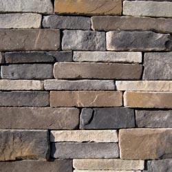 Black Bear Manufactured Stone Container - Southern Stacked Stone Rustic / Stacked Stone Flat - Bulk