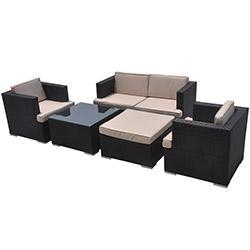 Kontiki Patio Furniture Wicker Conversation Group