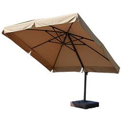 Kontiki Shade & Cooling Offset Patio Umbrellas 10 ft Sunbrella Deluxe Cantilever Umbrella with 360 rotation - Base Included
