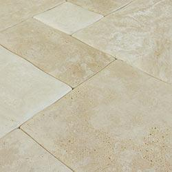 Compare Price Kesir Travertine Tile Antique Pattern Pillowed Edge